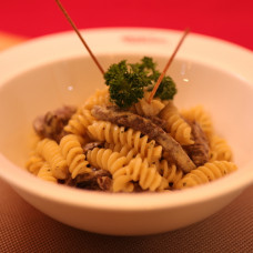 FUSILLI AL FILETTO IN MUSTARD SAUCE