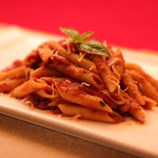 PENNE ALL'AMATRICIANA (Without Bacon on Good Friday)