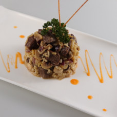 RISOTTO WITH FUNGI AND FILLET