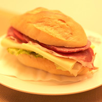 PARMA-HAM & CHEESE SANDWICH
